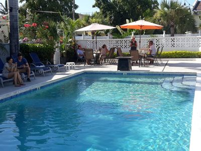 Access the $8.50 poolside breakfast at Colony Club hotel