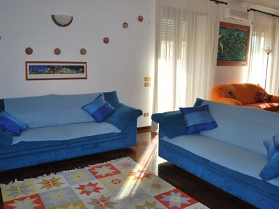 Photo for NICE APT 90 sqm 10 minutes from VATICAN -15 m.from SPANISH STEPS- AIR COND.- Wi-Fi