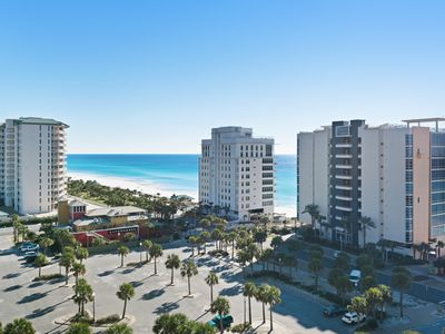 Photo for Beach condo with private balcony, gulf views & fitness room