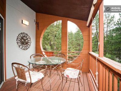 Fabulous covered deck for dining outside all year!