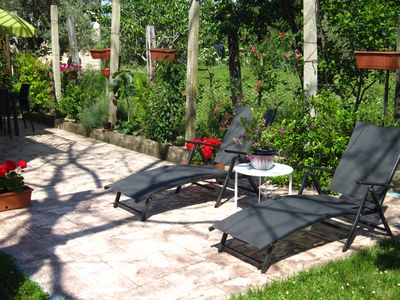 Photo for Majella National Park in Abruzzo - lovely self catering garden apartment.