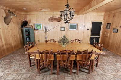 Dinning room with doorway to the Large deck.