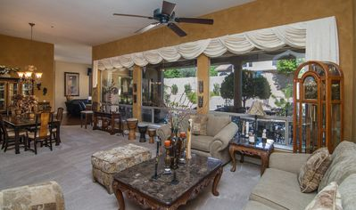 Photo for DESERT OASIS 4BR /3BA LUXURY HOUSE WITH POOL & HOT TUB