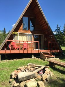 Enjoy a cup of coffee on the deck overlooking the creek in the morning!