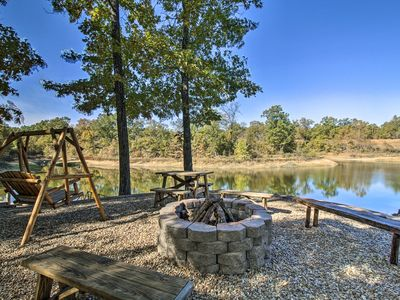 Photo for NEW-Cabin w/30 Acres & Private Lake - Near Ozarks!