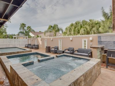 Photo for Contemporary getaway with a shared pool and tons of room!