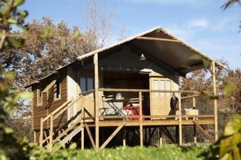 Photo for Camping La Source **** - Cabin on stilts 3 rooms 4 people