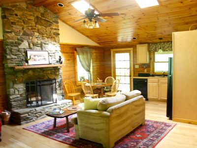 Photo for Asheville -  Gorgeous log cabin!  - Charming with 2  Streams