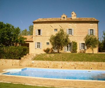 Photo for Light and Spacious Farmhouse / Villa With Large Pool, Privacy & Stunning View