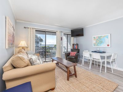 Photo for Private Balcony with Bay Views, Steps To Beach, Community Pool