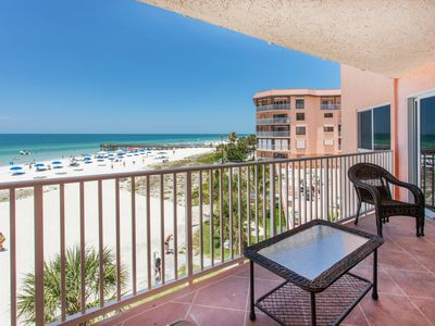 Photo for 2 BR, 2BA BEACHFRONT Luxury w 2 balconies! Covered Parking and Free WIFI