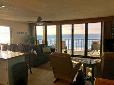 Open Concept Kitchen/Living/Dining area has amazing Gulf and pool views!!