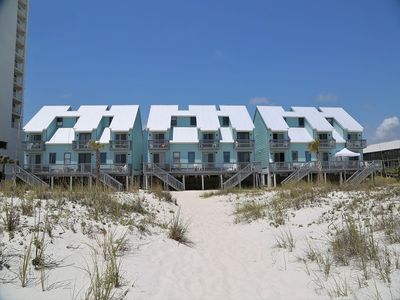 Photo for Ocean Reef 802 ~ Gulf Front Town House ~ Walk from your deck to the beach~ FREE Wifi, Prime Location