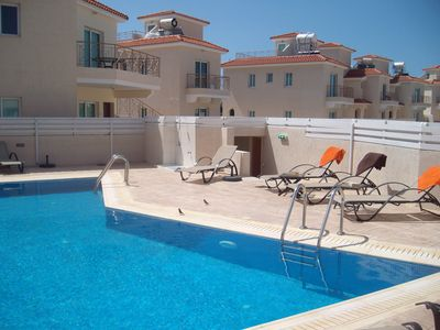 Photo for Beautiful top floor apartment in central Pernera with communal pool