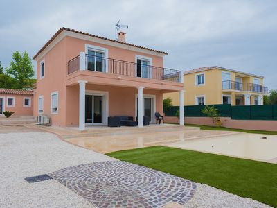 Photo for Modern villa with swimming pool, sea view, just 800 m away from the beach