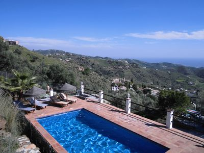 "Photo for Holiday apartment ""Vino"" with fantastic pool, free Wi-Fi, sea view and living garden"