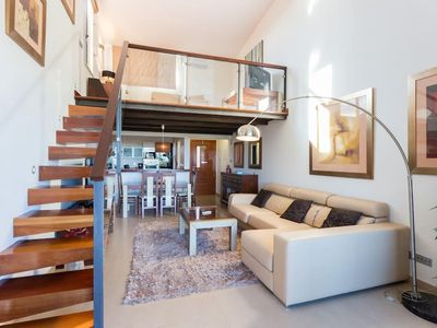 Photo for 2 bedroom apartment with mezzanine and private jacuzzi on a luxury spa resort