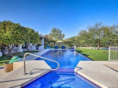 Photo for Lavish Paradise Valley Home w/ Sports Court & Pool