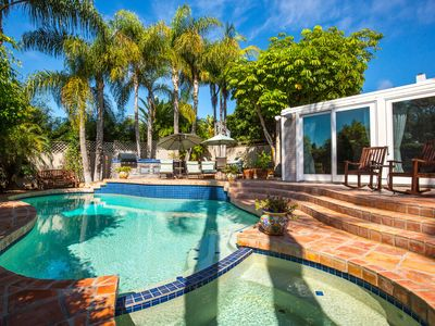 Photo for Private Pool, Spa, Outdoor Kitchen, 5 minutes to Village, Track, & Torrey Pines!