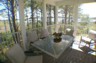 Photo for Luxurious Home, Water Views, Walk to Beach, Gated Community