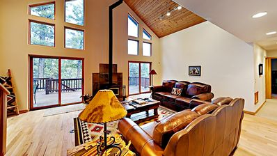 Photo for New listing! BEAUTY!  Mtn home,deck w/views, 4 br, 5 min walk to AF hiking sys