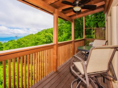 Photo for AMAZING VIEWS ALL THROUGHOUT THE CABIN!
