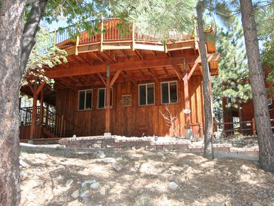 Photo for Cabin, With Panoramic Views, Of Trees, Lake And Ski Slopes, Sleeps 8