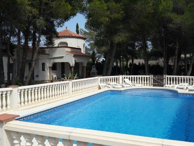 Photo for Stunning private villa for 8 guests with private pool, WIFI, TV and parking