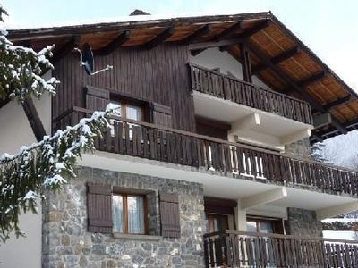 Photo for Very nice flat in a mountain chalet,very well exposed, near cable car