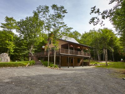 Photo for Rock Haven At North Street, Wooded Cabin Retreat In Old Forge, NY