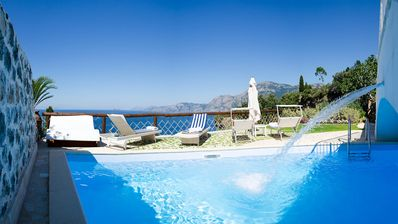 Photo for Gorgeous 2 bedroom villa with pool in the heart of the Amalfi Coast