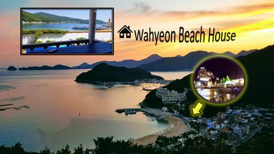Wahyeon Beach House: Right on the beach! Great views and perfect for groups.