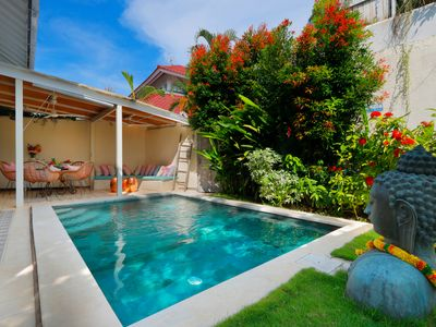Photo for Very cozy 2 bedrooms,  best Seminyak location. Quiet and sunny all day