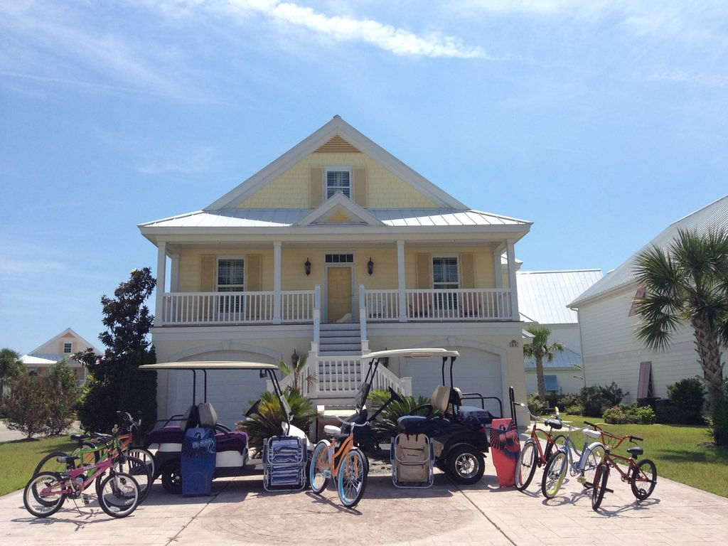 Large Beach Home Golf Carts Pools Room 5br 4ba Monthly Off Season