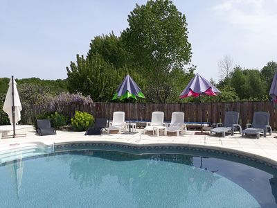 Photo for A beautiful cottage with private, secluded, heated pool and garden
