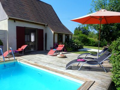 """Photo for House direct access to the pool """"Private"""" view bastide10mn Sarlat wifi"""