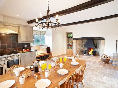 Photo for This imposing 17th Century farmhouse with a wealth of character features