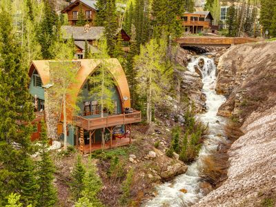 Photo for Iconic creekside mountain home w/ private hot tub & amazing views!