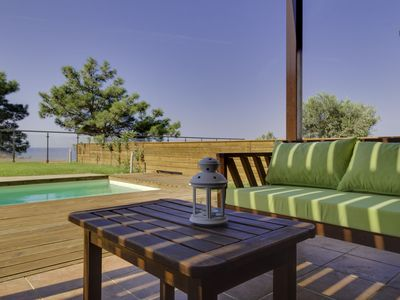 Photo for Luxurious villa on a hill with breathtaking view to ocean