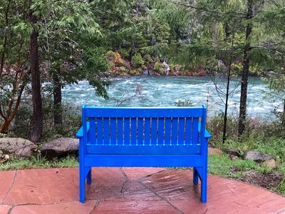 Quiet seating to ponder the beautiful river