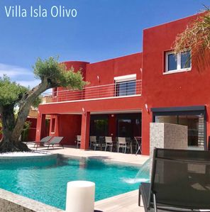 Photo for Splendid 8 bedroom villa with heated private pool, whirlpool, A/C + WiFi in Carm