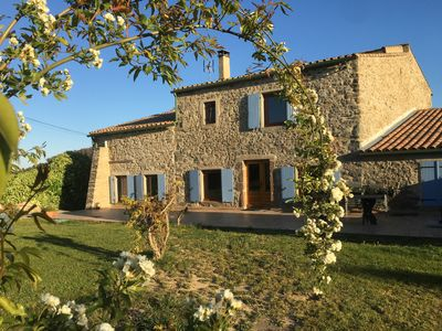 Photo for Stunning stone farmhouse surrounded by vineyards , 2kms from village of Paraza