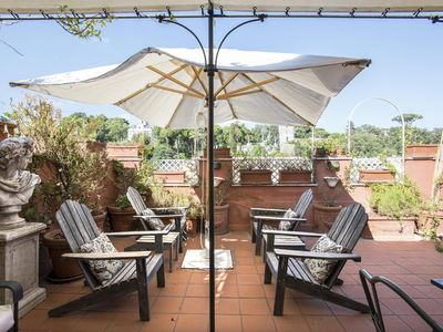 Photo for TreasureRome Spanish Steps Luxury penthouse with private roof terrace breathtaking view