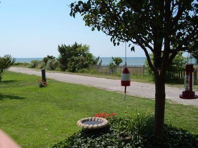 View of the Chesapeake Bay taken in the cottage's front yard.