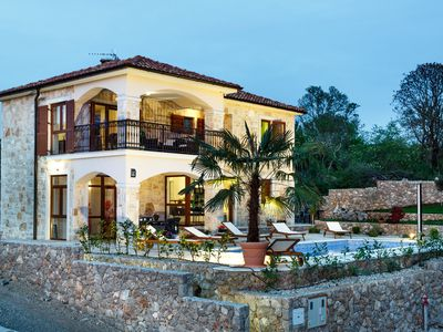 Photo for New stone villa with pool, sea view, barbecue, children's playground, in a quiet location