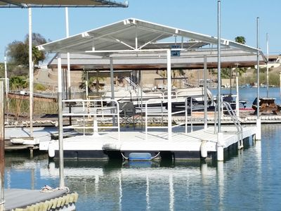 New Covered Dock accommodates up to 4 vessels