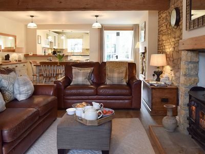 Spacious Open Plan Living, Dining and Kitchen Area. Such a lovely social space.