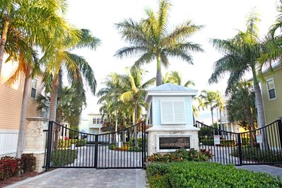 Gated community, coded entry, royal palms, great location, oceanfront.