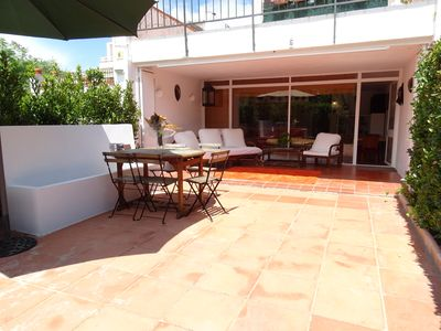 Photo for Costa Brava, Platja d'Aro, Politur, B6. In front of the pool. WIFI. TV-Sat