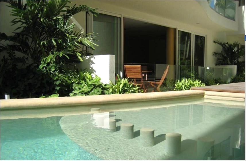 Poolside View To Interior Patio